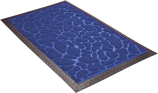 Придверный коврик грязезащитный Shahintex синий 60х90 см