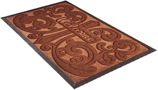 Придверный коврик для прихожей Shahintex коричневый 60х90 см