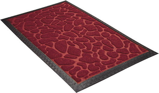 Коврик придверный Shahintex красный 60х90 см