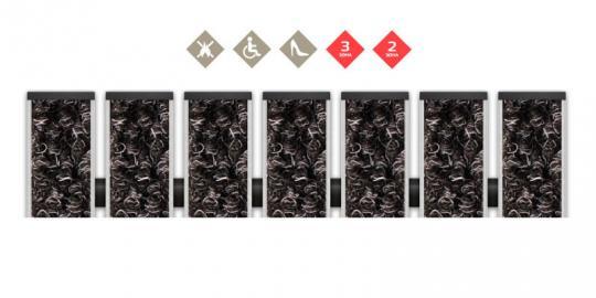 Грязезащитная алюминиевая решетка СТРИТ ПРЕМИУМ Ворс+Скребок