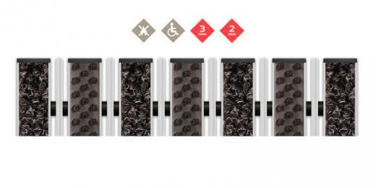 Грязезащитная алюминиевая решетка СТРИТ ПРЕМИУМ Ворс + Щетка + Скребок