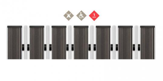 Грязезащитная алюминиевая решетка СТРИТ ПРЕМИУМ Резина + Скребок