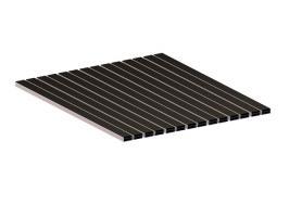 Грязезащитная алюминиевая решетка СТРИТ Стандарт 40 Резина