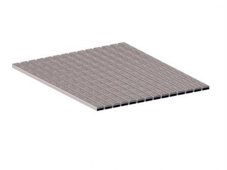 Грязезащитная алюминиевая решетка СТРИТ Стандарт 40 Ворс