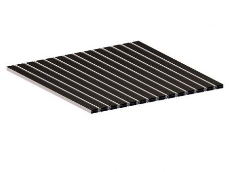 Грязезащитная алюминиевая решетка СТРИТ Стандарт 40 Резина + Скребок