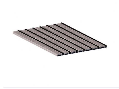 Грязезащитная алюминиевая решетка СТРИТ Стандарт 40 Ворс + Щетка