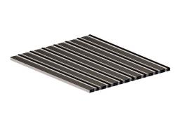 Грязезащитная алюминиевая решетка СТРИТ Стандарт 40 Резина + Щетка + Скребок