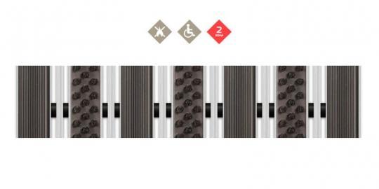 Грязезащитная алюминиевая решетка Резина + Щетка + Скребок