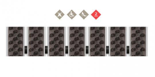 Грязезащитная алюминиевая решетка СТРИТ Стронг Щетка